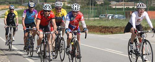 Groupe vélo en Espagne Rosas avec 53douze
